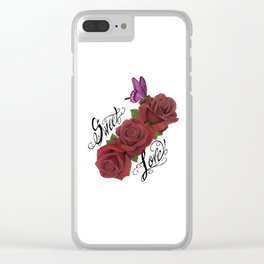 sweet love Clear iPhone Case
