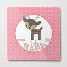Baby Deer Metal Print