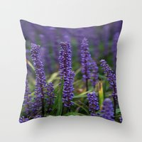 lavender Throw Pillows featuring Lavender by Tracy66