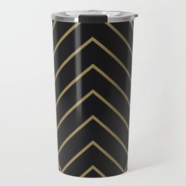 Diamond Series Pyramid Gold on Charcoal Travel Mug
