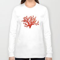 coral Long Sleeve T-shirts featuring Coral  by AnaCZ