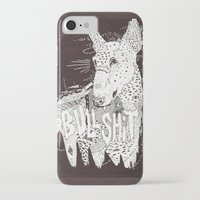bull terrier iPhone & iPod Cases featuring BULL  by Michael Todd Berland