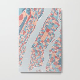 Abstract Manhattan map Metal Print