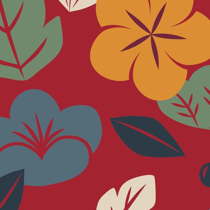 Retro autumn floral pattern Leggings