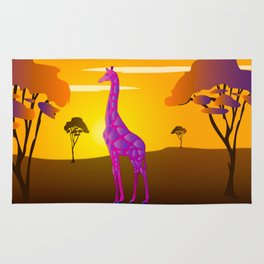 Paper Craft Giraffe Rug