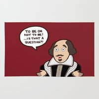 shakespeare Area & Throw Rugs featuring Shakespeare by evannave