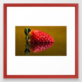 Half Strawberry Framed Art Print