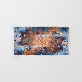 Copper and Denim Abstract Hand & Bath Towel