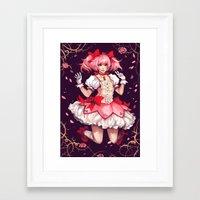 madoka Framed Art Prints featuring ♥ Madoka ♥ by ShinoX