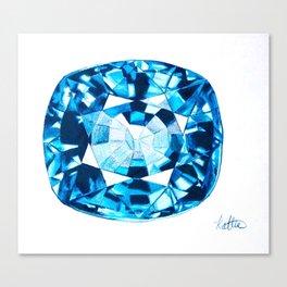 Tanzanite Gemstone  Canvas Print