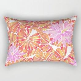 Water Lilies – Melon Palette Rectangular Pillow