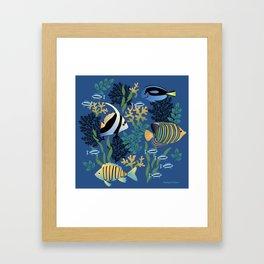 Tropical Fish Framed Art Print
