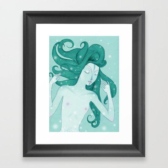 The mermaid Framed Art Print