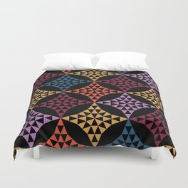 Triangle mosaic Duvet Cover