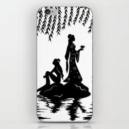 Lady White Snake iPhone Skin
