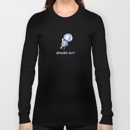 Little Astronaut - Spaced Out (Captioned) Long Sleeve T-shirt