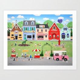 Doggie Heaven Art Print