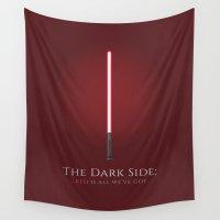 dark side Wall Tapestries featuring The Dark Side by Elizabeth Owens