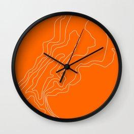 mullett lake, michigan topographic map Wall Clock