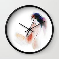 naked Wall Clocks featuring  naked by tatiana-teni