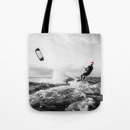 surf santa - kite surf Tote Bag