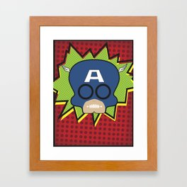 Avengers - Captain America Framed Art Print
