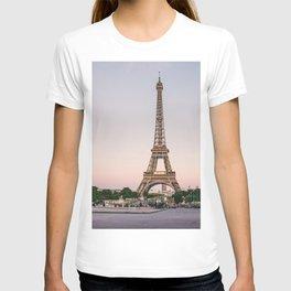 Sunset at Eiffel Tower  T-shirt