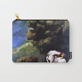 12,000pixel-500dpi - A Lion Attacking A Horse - George Stubbs Carry-All Pouch