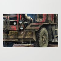 truck Area & Throw Rugs featuring Logging Truck by Benson Hilgemann