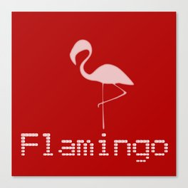 Flamingo Night Canvas Print