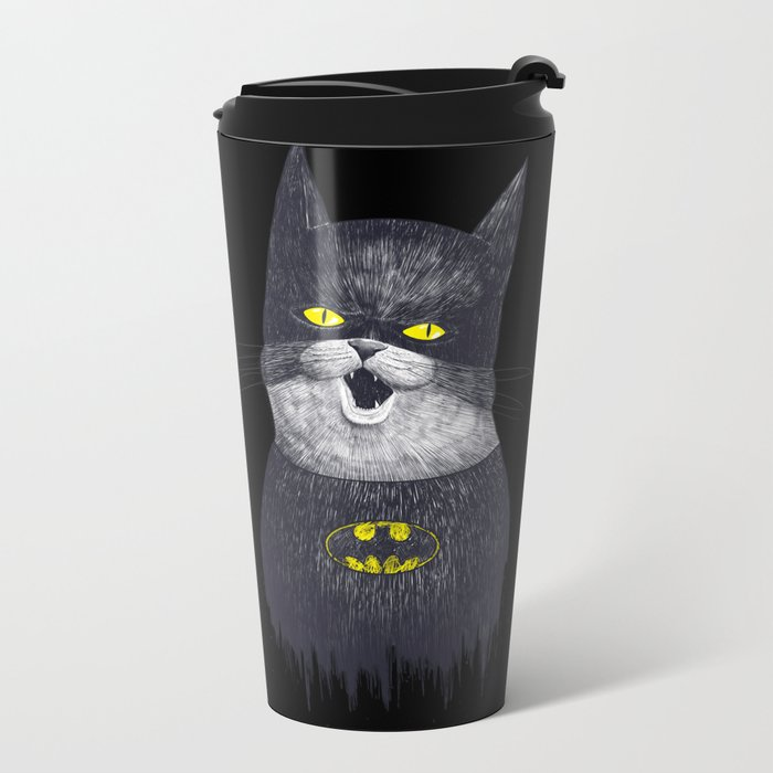 Super Cat Metal Travel Mug
