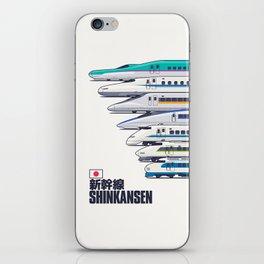 Shinkansen Bullet Train Evolution - White iPhone Skin