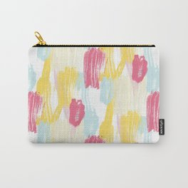 Abstract Paint Brush Strokes Carry-All Pouch
