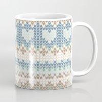 knitting Mugs featuring knitting by alisblack