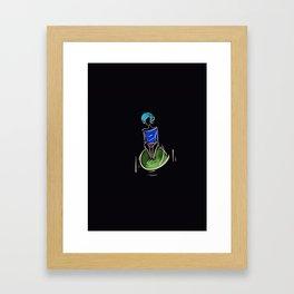 flying on something Framed Art Print