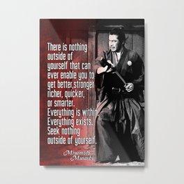 Miyamoto Musashi Samurai, Iaido, kendo, Aikido, Kenjutsu Metal Print