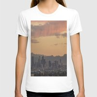 denver T-shirts featuring Denver Skyline by Becca Buecher