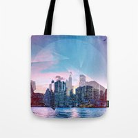 manhattan Tote Bags featuring Manhattan by Esco