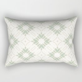 Watercolor Shibori Green Flamingo Rectangular Pillow