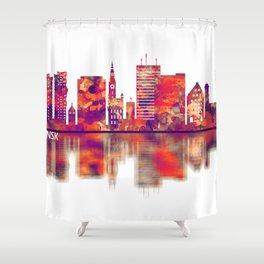 Gdansk Poland Skyline Shower Curtain