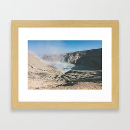 Ijen crater, Indonesia Framed Art Print