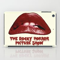 rocky horror picture show iPad Cases featuring Rocky Horror Picture Show Lips Logo by TOM / TOM