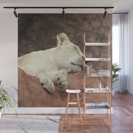 Sleeping Lion Wall Mural