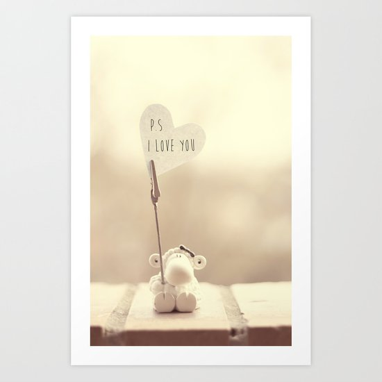 p.s i love you Art Print