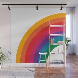 Retro Bright Rainbow - Left Side Wall Mural