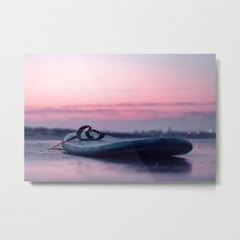 Sunset Surboard Metal Print
