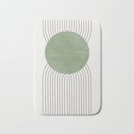Green Moon Shape Bath Mat