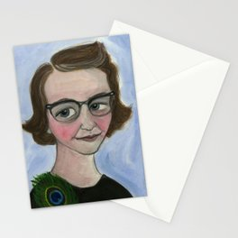"Flannery O'Connor Art Print, Literary Portrait (6x8) ""A Good Flannery is Hard to Find"" Stationery Cards"