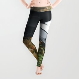Seafood Tom Yum or Thai style spicy soup Leggings