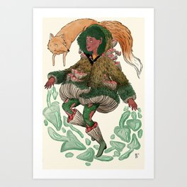 Fungi Witch Art Print